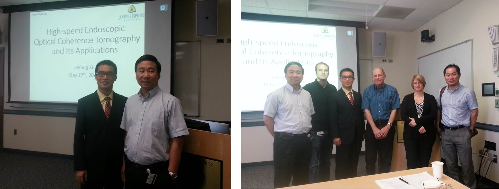 Dr. Jiefeng Xi with his PhD Defense Committee